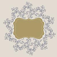 Florecer la caligrafía de marco vintage. Dibujado a mano ilustración vectorial EPS 10