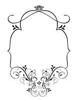cadre vintage avec des feuilles isolées sur fond. Illustration de calligraphie vectorielle EPS10