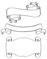 Set av dekorativ ram och gränsar. Kalligrafi bokstäver Vektor illustration EPS10
