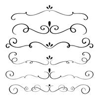 art calligraphy flourish of vintage decorative whorls for design. vector illustration EPS