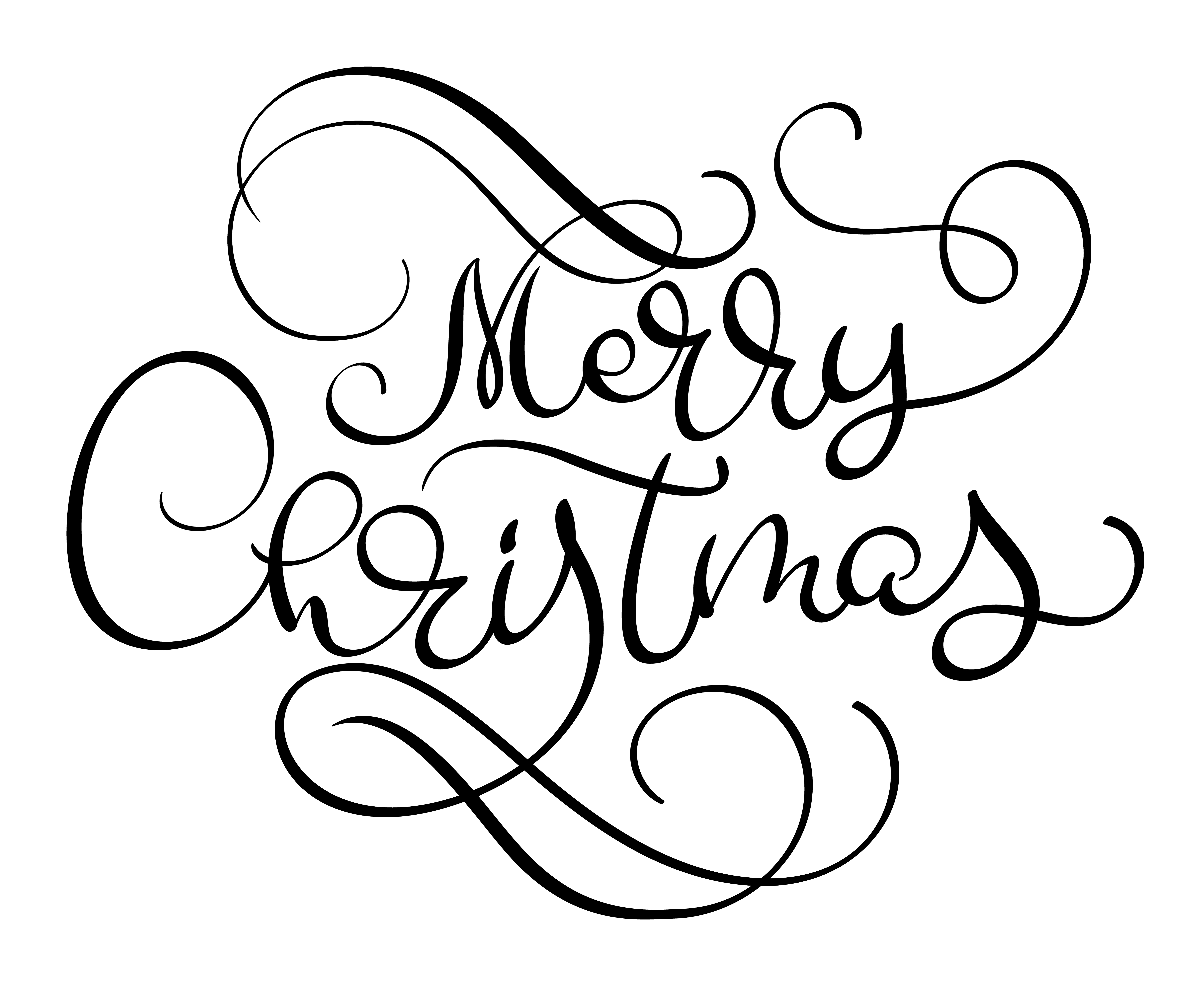Merry Christmas Vector Text Calligraphic Lettering Design Card Template Creative Typography For Holiday Greeting Gift Poster Calligraphy Font Style Banner Download Free Vectors Clipart Graphics Vector Art