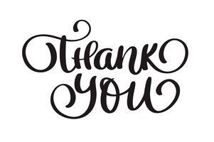 testi Grazie a mano scritto calligrafia lettering. illustrazione vettoriale a mano