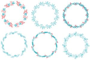 Set of Decorative Round Frame and Borders Art. Calligraphy Vector illustration EPS10
