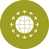 vector golbe pictogram