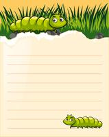 Paper template with two caterpillars