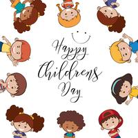 Happy children's day template