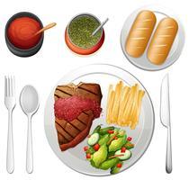 Steak auf weißem Hintergrund