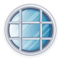Round window with white frame vector