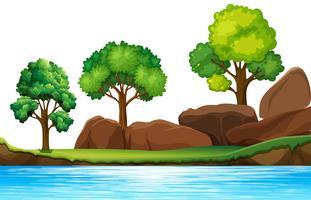 Un paesaggio naturale isolato