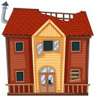 Gammalt hus i röd färg