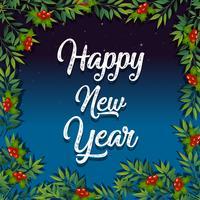 Happy New year mistletoe card