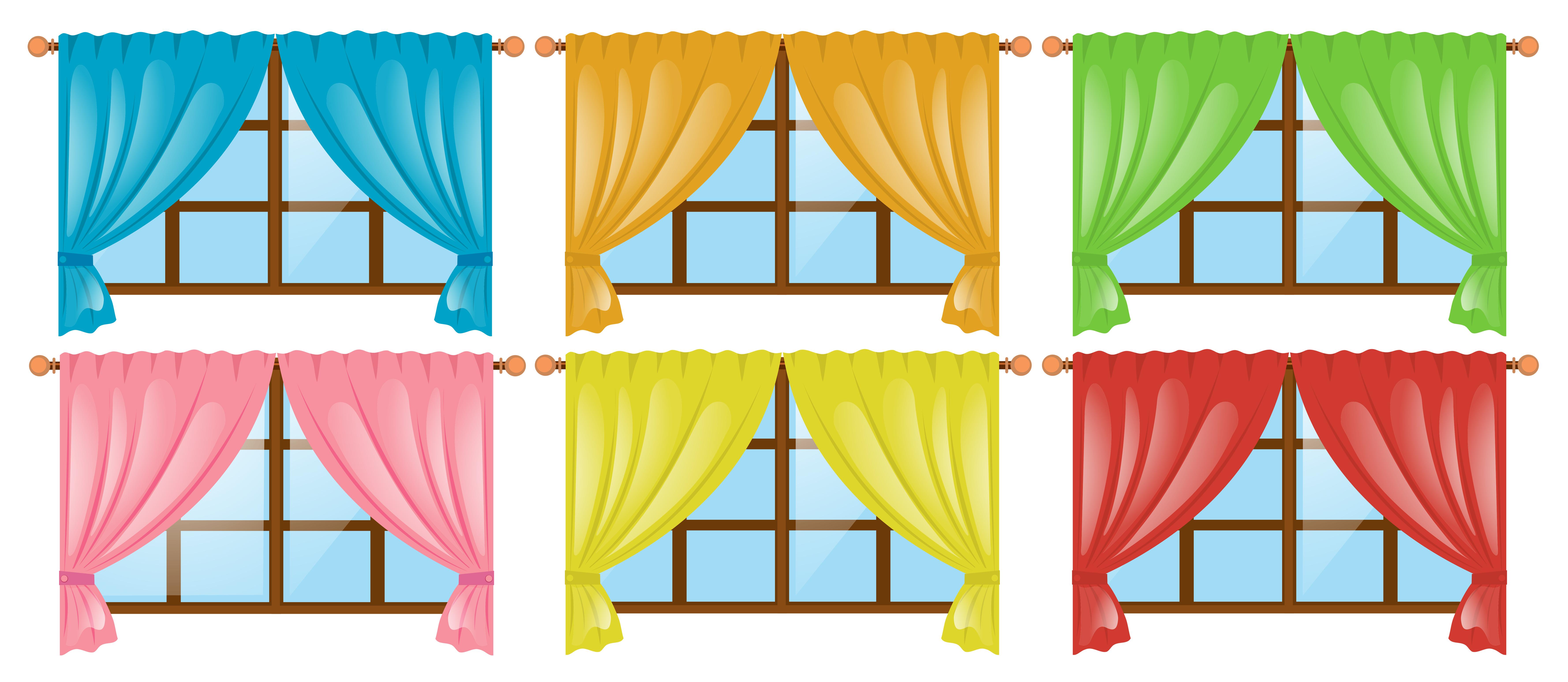 Type De Rideaux Pour Fenetre Cintrees fenêtres avec rideaux de couleurs différentes - telecharger