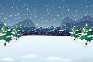 Een achtergrond van de winternacht