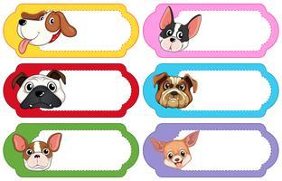 Label Design mit niedlichen Hunden