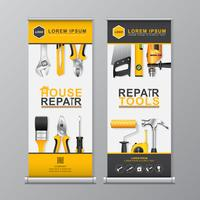 Construction tools roll up and standee design