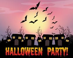 Poster van halloween-feest