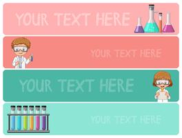 Banner templates with kids in science lab