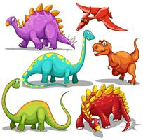 Diferentes tipos de dinosaurios.