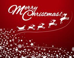 Weihnachtsthema mit Schlitten