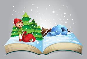 Christmas book vector