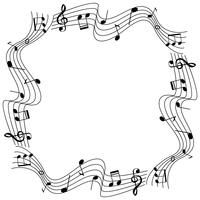 Border template with musicnotes on scale