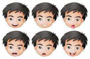Rostos de um menino