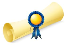 A paper scroll with a ribbon