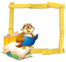 En Owl Reading Book Template