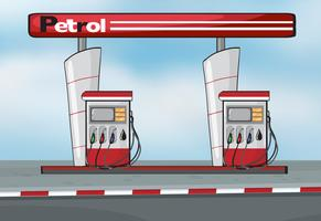 Estación de petroleo vector