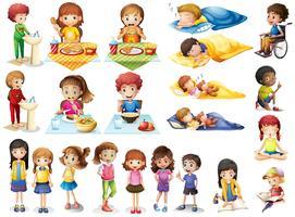 Crianças e rotinas diferentes