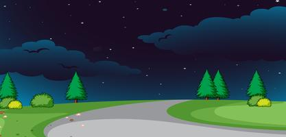 A nature road at night background