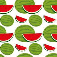 Seamless background design with watermelon vector