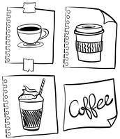 Café dans différents récipients