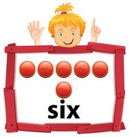 Girl with number six banner