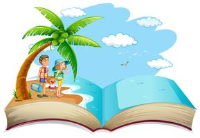 OPen book family summer vacation