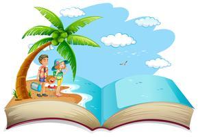 Abrir libro familia vacaciones de verano