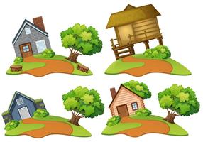 Conjunto de casa na colina