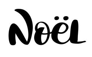 Französisch Frohe Weihnachten Joyeux Noel. Erstklassiger Luxushintergrund für Feiertagsgrußkarte. Fun-Brush-Ink-Typografie für Foto-Overlays, T-Shirt-Druck, Flyer, Plakatgestaltung
