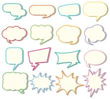 Speech bubble templates on white background