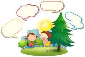Chicas con globo de habla