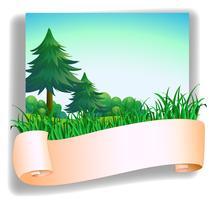 Una segnaletica vuota di fronte ai pini