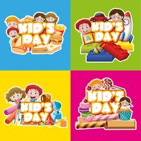 Four design poster for kid's day