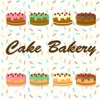 Desing de fond avec des gâteaux