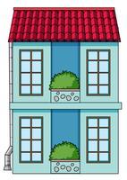 Ein simeple Haus auf weißem Hintergrund