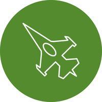Icône de jet de chasse de vecteur