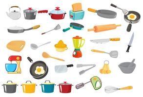 various utensils vector