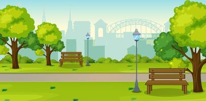 Um parque na cidade urbana