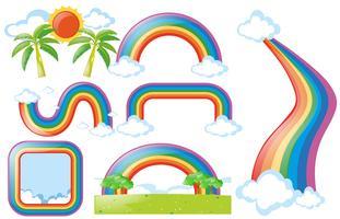 Unterschiedliches Design des Regenbogens