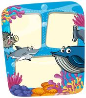 Frame template with sea animals
