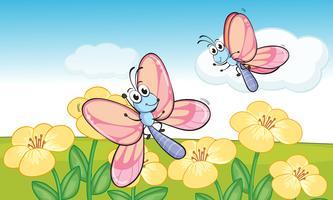 Eine fliegende Schmetterlinge